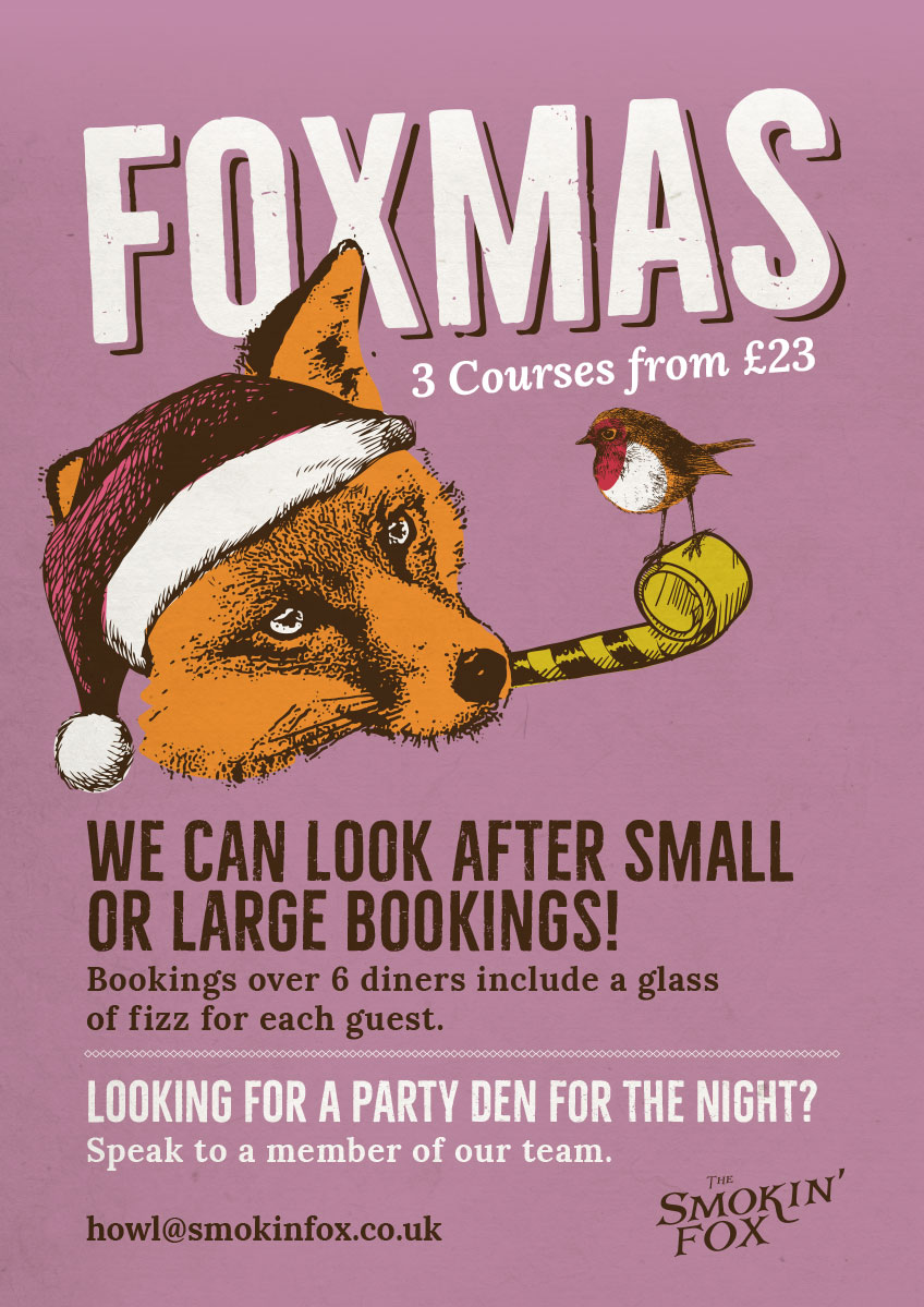 Christmas at The Smokin Fox Central Glasgow Book Festive Nights Out Here